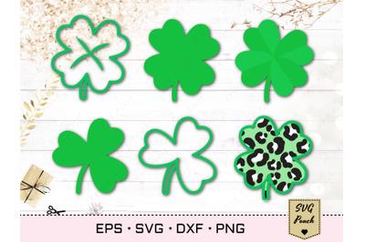 Saint Patricks Day clover leaves SVG