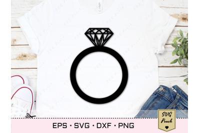 Diamond Ring Svg