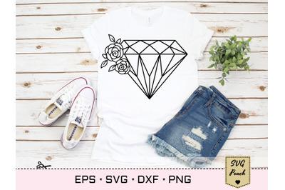 Flower Diamond SVG