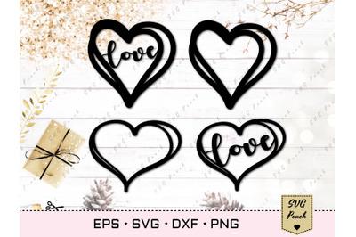 Doodle heart cut file SVG