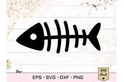 Fishbone SVG, Fish bone skeleton vector