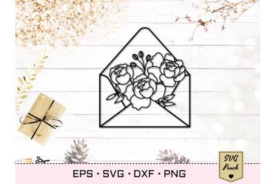 Floral Envelope SVG