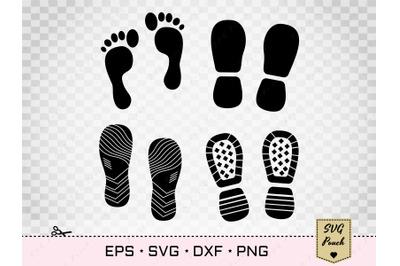 Footprints and Shoe Prints SVG