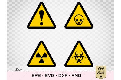 Biohazard SVG and Radiation toxic symbol set