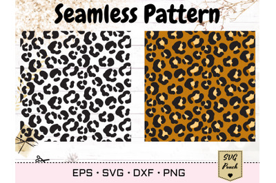 Leopard seamless pattern SVG