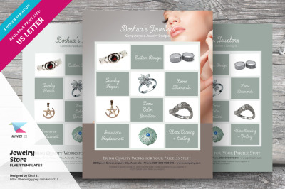 Jewelry Store Flyer Templates