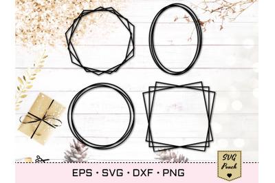 Monogram frame set of 4 SVG