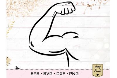 Biceps SVG, Bodybuilder Arm Svg
