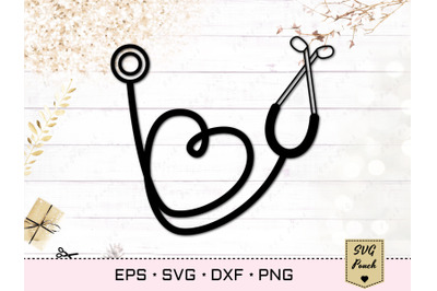 Stethoscope Heart SVG