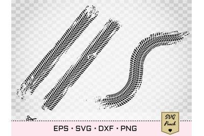 Tire tracks set of 2 SVG