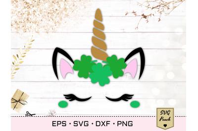 St Patrick's Day Unicorn SVG