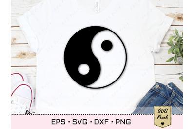 Ying Yang sign SVG