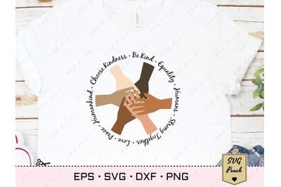 Black lives matter SVG Unite hands file