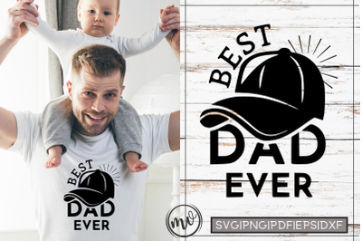 Best DAD Ever Father's Day Quote SVG Cut File