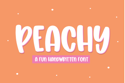 Peachy - Fun Handwritten Font