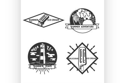 Vintage summer season emblems