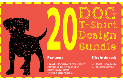 Dog T-Shirt Design Bundle