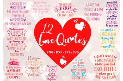 12 Love Quotes