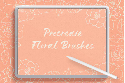 Flower Procreate Flow And Stamp Brushes - Hand Drawn Floral Brushes