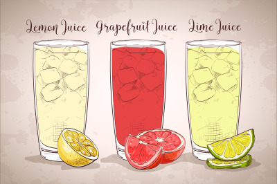 Download Clear Glass Bottle With Grapefruit Juice Mockup Yellowimages