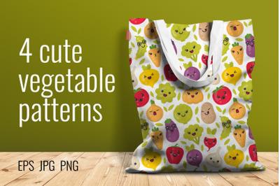 4 cute vegetable patterns