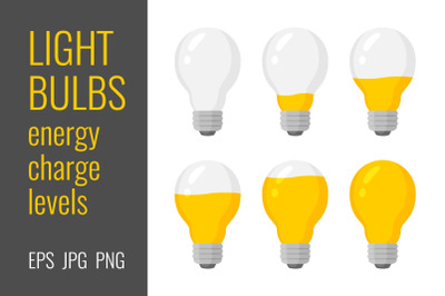 Light bulbs energy charge levels