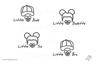 Little Dudes Baby Cute SVG Illustration.