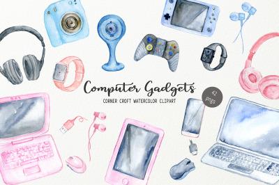 Watercolor Computer Gadgets