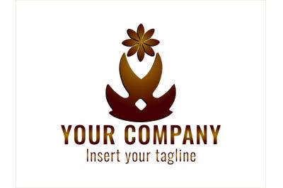 Logo Gradatiion Ornament Flower
