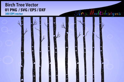 Birch tree SVG vector