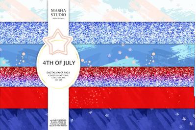 Patriotic Basic Digital Papers