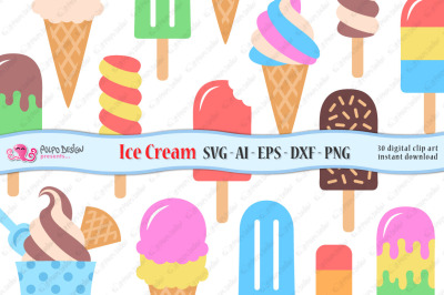 Ice Cream SVG, Eps, Dxf, Ai and Png.