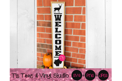 Welcome Svg, Porch Sign Svg, Welcome Porch Sign Svg, Vertical Welcome