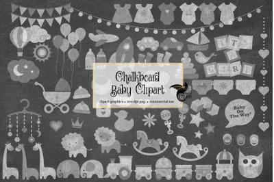 Chalkboard Baby Clipart