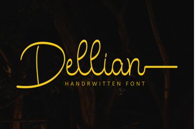 Dellian Handrwitten Font