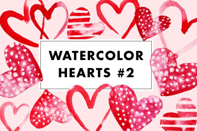 17 Watercolor Heart illustrations