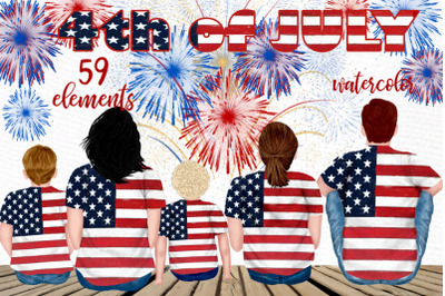 4th of July Family clipart Fireworks clipart Mug designs