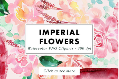 Imperial - 39 Watercolor Floral Set