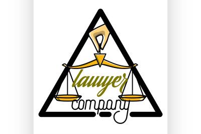 Color vintage lawyer emblem