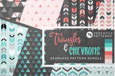 Triangles & Chevrons Seamless Pattern Bundle