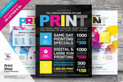 Print Shop Flyer Templates