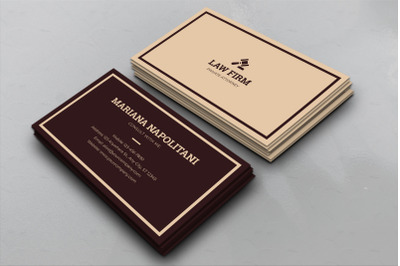 Law Firms Business Card