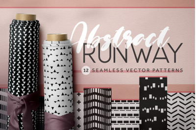 Abstract Runway Seamless Patterns