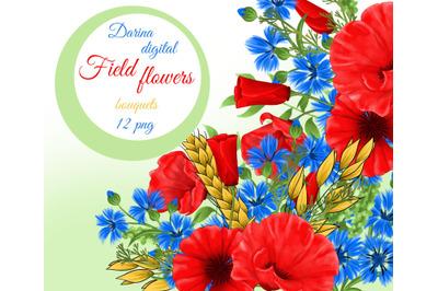 Field flowers clipart