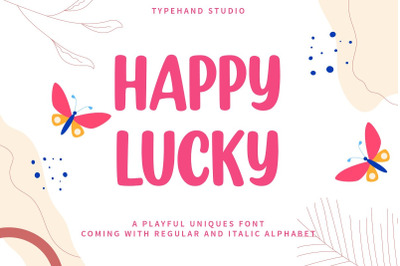 Happy Lucky - Playful Unique Font