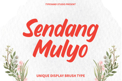 Sendang Mulyo - Brush Display Font