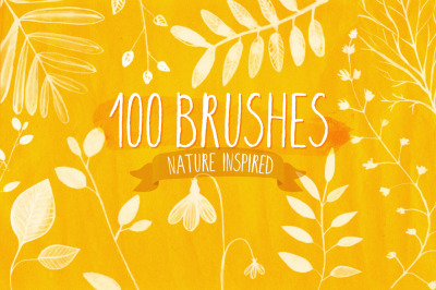 100 Nature Photoshop brushes
