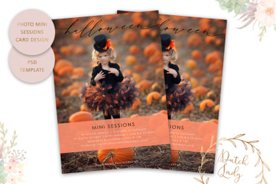 PSD Photo Session Card Template #67