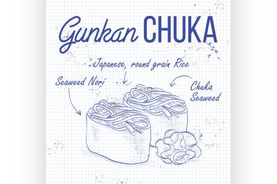 Gunkan Chuka Seaweed