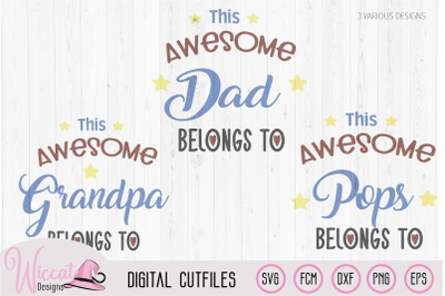 Awesome dad word art, Father's day svg,